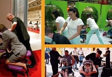 Séances de massage assis  en entreprise
